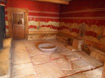 Throne Room reconstruction Knossos Gillian Hovell Muddy Archaeologist