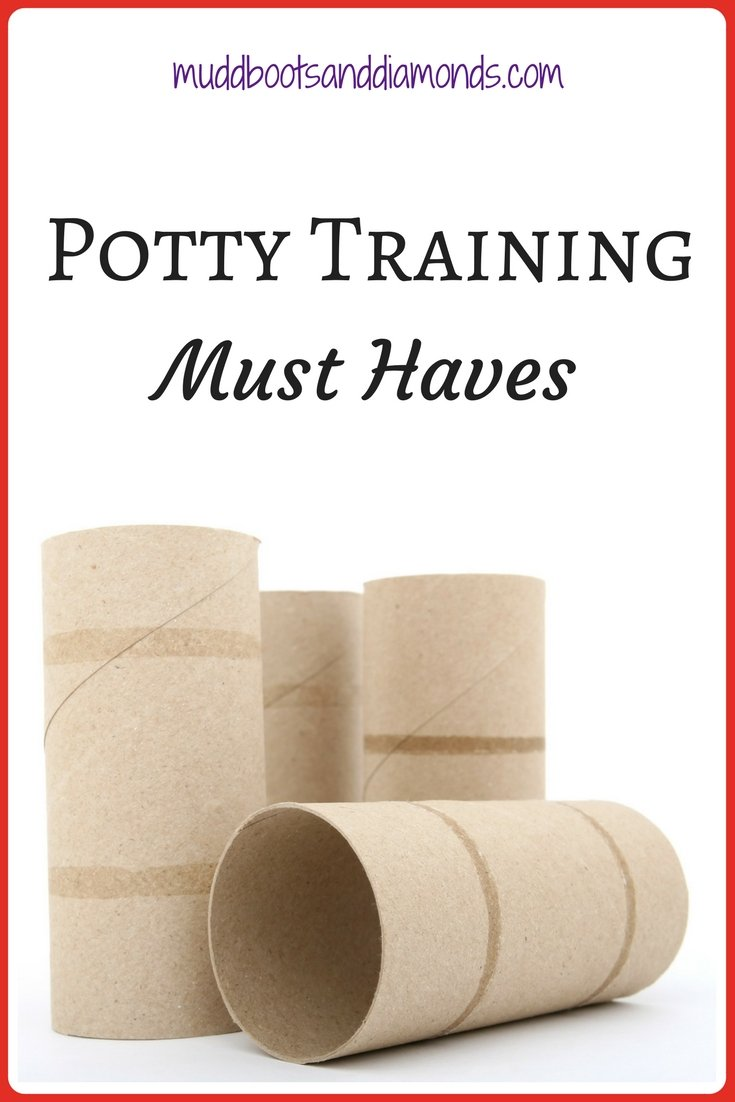 Ready to start potty training? These are my Potty Training Supplies: Must Haves via muddybootsanddiamonds.com