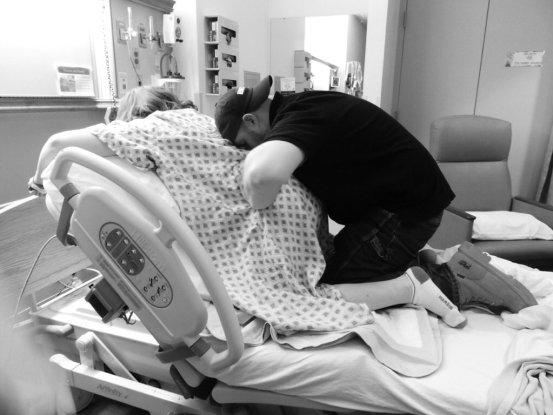 my epidural free birth story via muddybootsanddiamonds.com