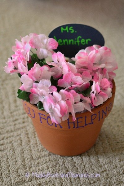 Flower Pot Teacher Appreciation Gift 9