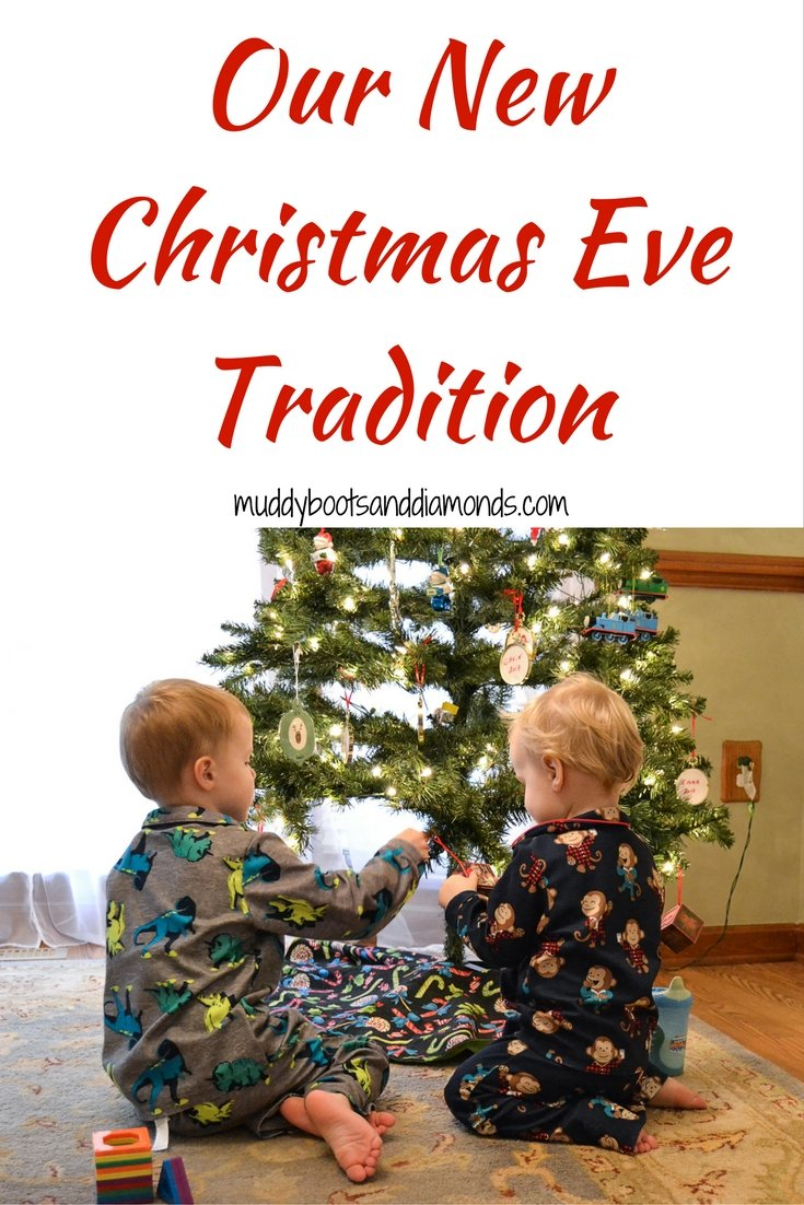 Our New Christmas Eve Tradition: new PJs and a book from Elf on the Shelf via muddybootsanddiamonds.com