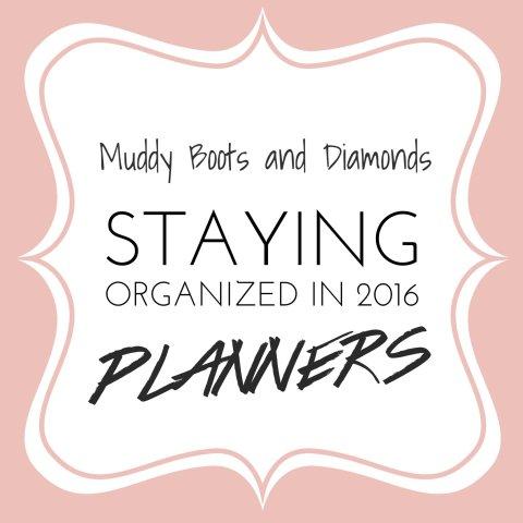Staying Organized with Planners via Muddybootsanddiamonds.com