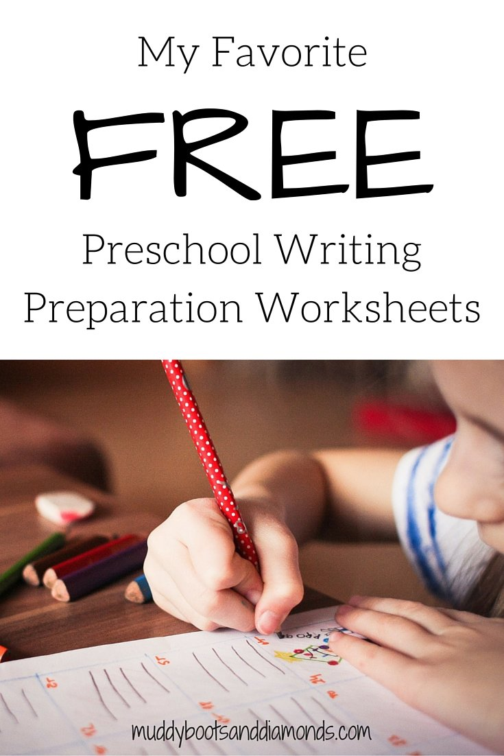 Where to find free preschool writing preparation worksheets via muddybootsanddiamonds.com