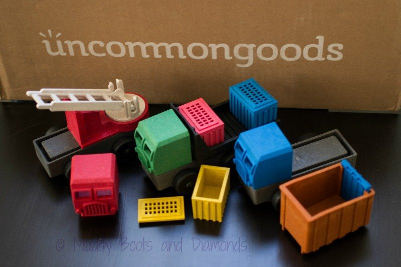 Sustainable Toys from UncommonGoods: Eco Trucks via muddybootsanddiamonds.com