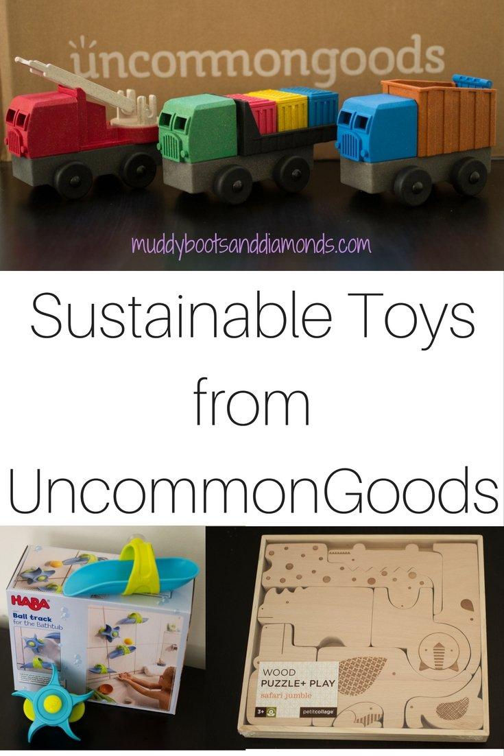Sustainable Toys from Uncommon Goods via muddybootsanddiamonds.com