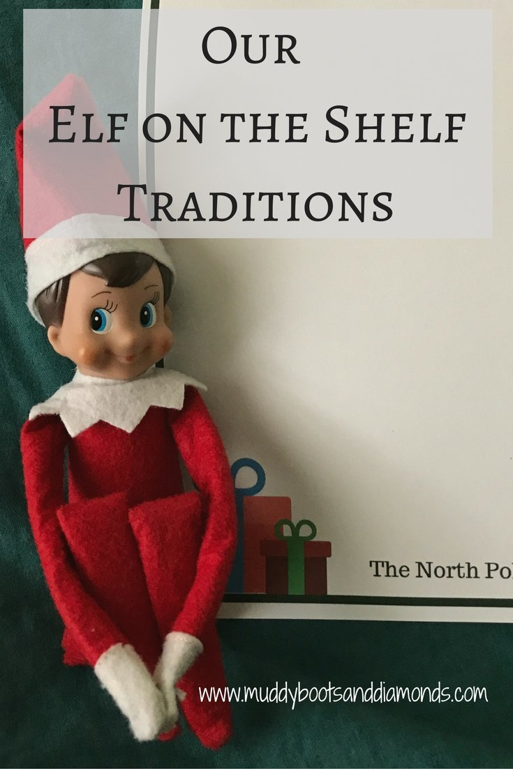 While our elf may not do something crazy every night, he does have a few surprises in store for the kids leading up to Christmas | Elf on the Shelf Traditions plus a FREE PRINTABLE letterhead via muddybootsanddiamonds.com