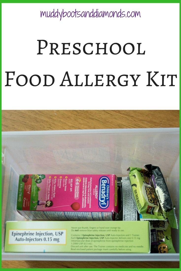 Preschool with Food Allergies: A Preschool Food Allergy Kit via muddybootsanddiamonds.com