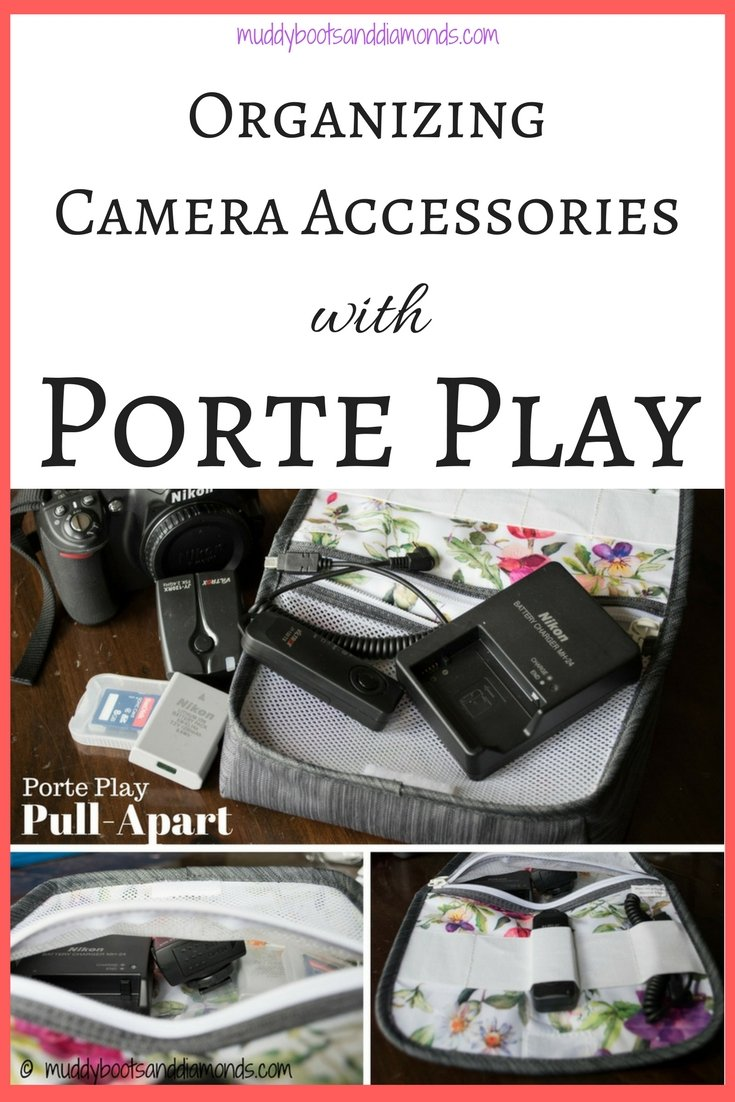 Organize Your Camera Accessories with Porte Play | Getting Out of Town with Pore Play {review} via muddybootsanddiamonds.com