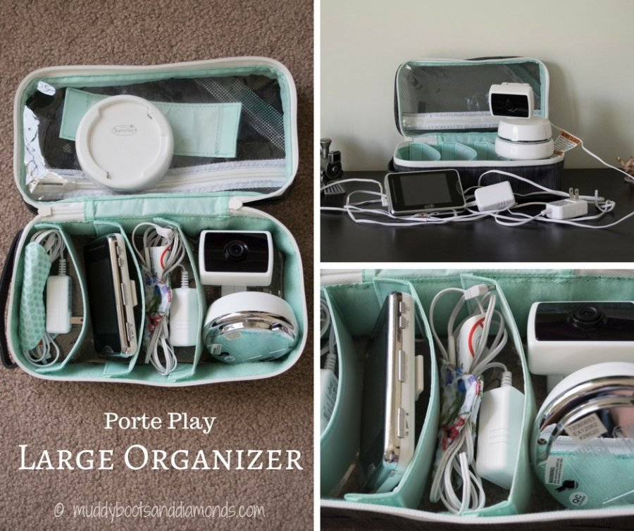 Porte Play Large Organizer is perfect for packing up and traveling with your baby monitor! - Getting Out of Town with Porte Play (review) via muddybootsanddiamonds.com #baby #organization #travel