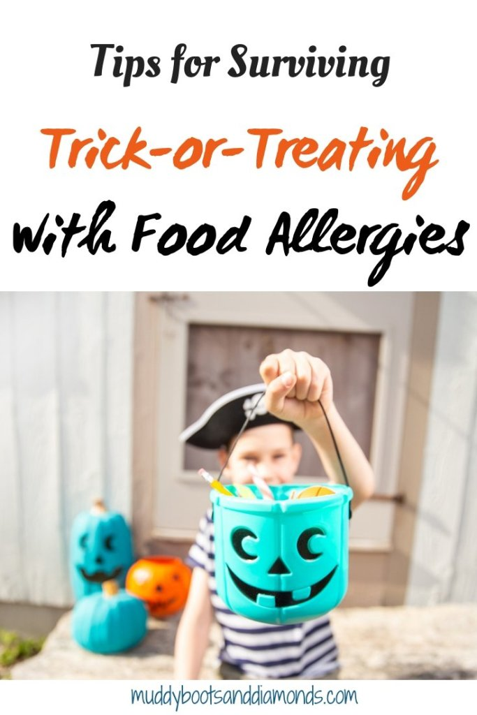 Tips for Surviving Trick-or-Treating with Food Allergies via muddybootsanddiamonds.com | Tips for Surviving Halloween with Food Allergies
