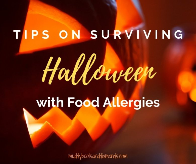 carved-pumpkin-Tips on Surviving trick-or-treating with Food Allergies via muddybootsanddiamonds.com