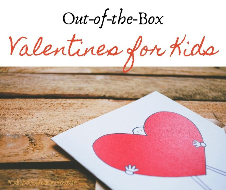 Out-of-the-Box Valentines for Kids via muddybootsanddiamonds.com #ValentinesDay #CreativeValentines #CandyFree #FoodFree #AllergyFriendly #ValentinesforKids #ValentinesDayCards #preschool #elementaryschool #kindergarten