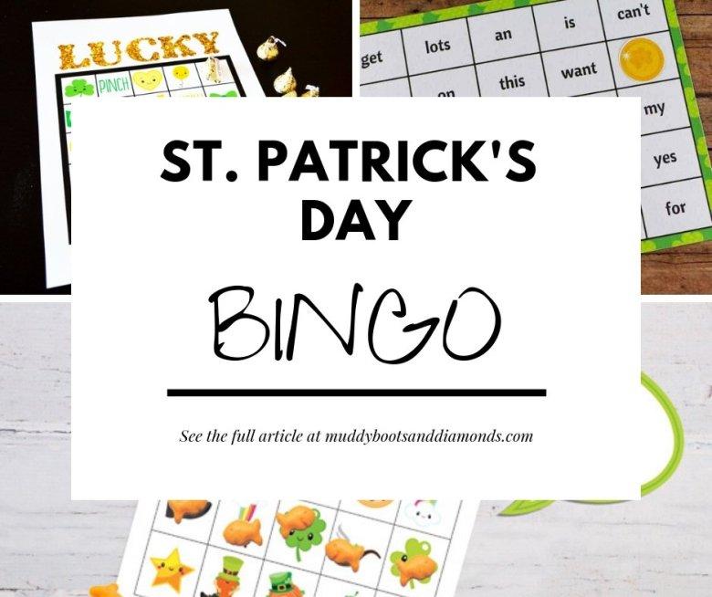 St. Patrick's Day BINGO via muddybootsanddiamonds.com