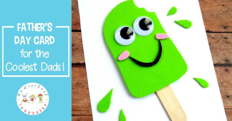 You're the Coolest Father's Day Cards by Homeschool Preschool | Kid-Created Father's Day Cards via muddybootsanddiamonds.com