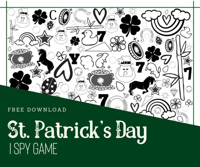 St. Patrick's Day I Spy Game Free Download Facebook Image via muddybootsanddiamonds.com