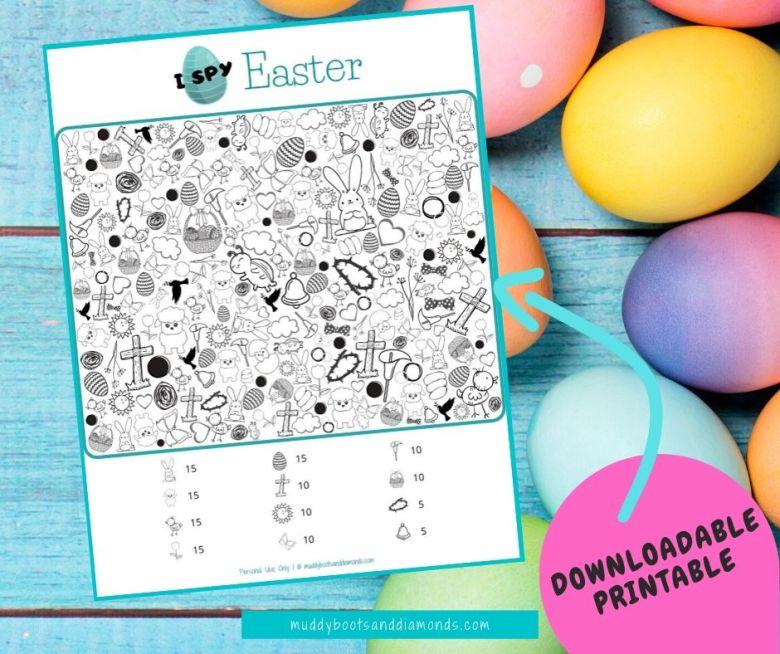 I Spy Easter Game Printable facebook image via muddybootsanddiamonds.com