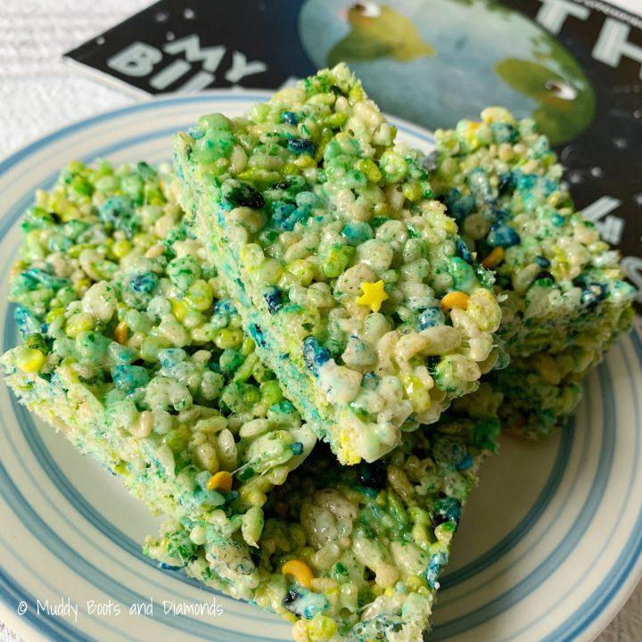 Earth Day Rice Cereal Treats via muddybootsanddiamonds.com