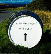 Whisky barrel giving directions