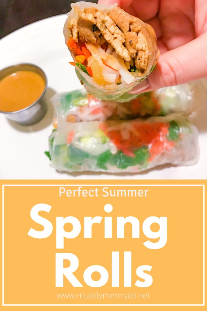 Perfect summer spring rolls