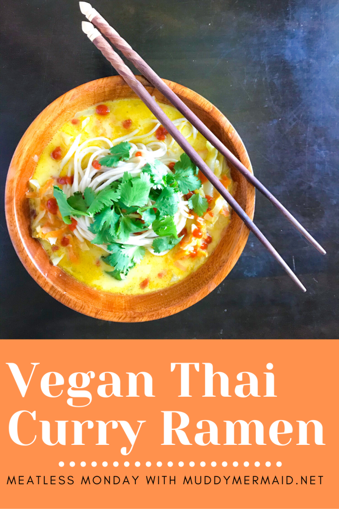 Vegan Thai Curry Ramen meatless monday