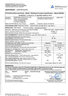 Certificates - Mudersbach GmbH & Co  KG