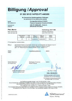 Certification for PED PT-4403/00