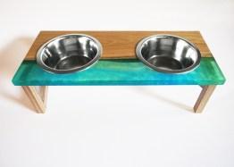 MUDESO Design Napfständer Hundebar aus Holz
