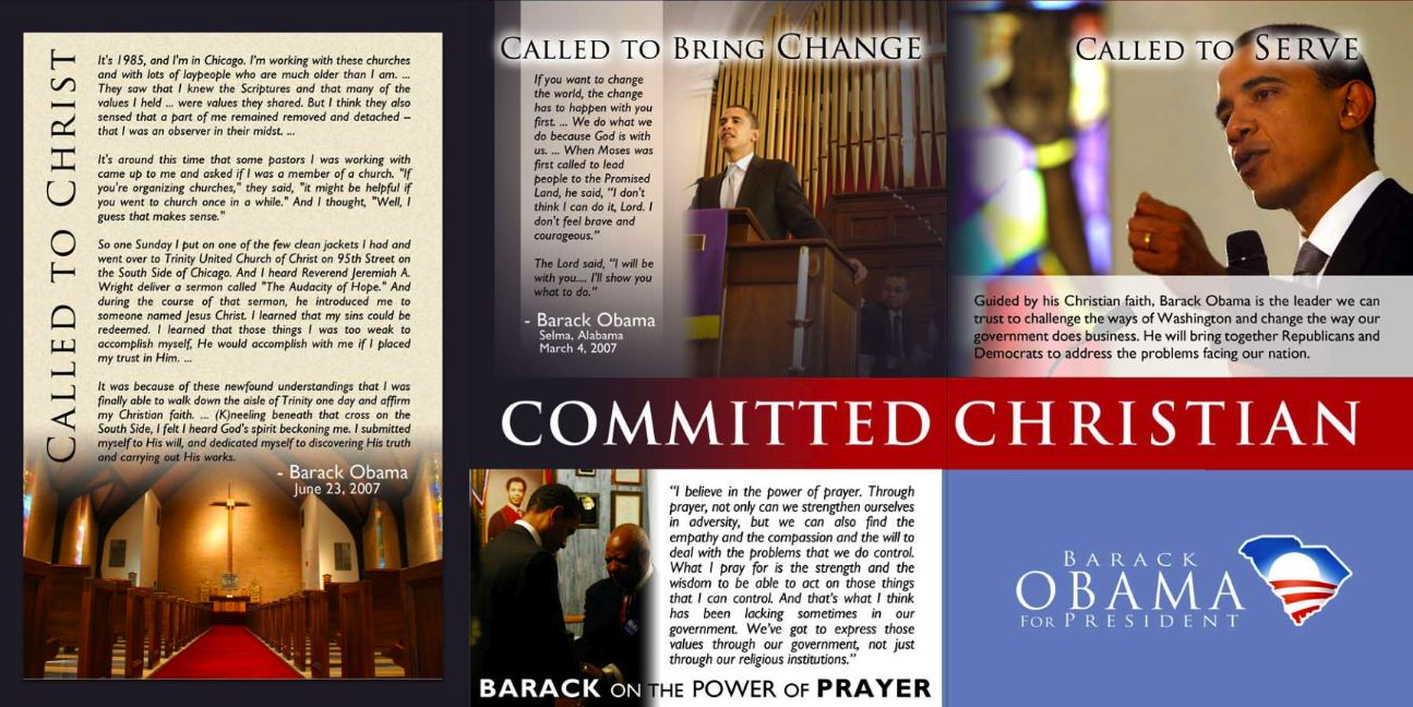 Obama claims to be a Born Again Follower of Christ?