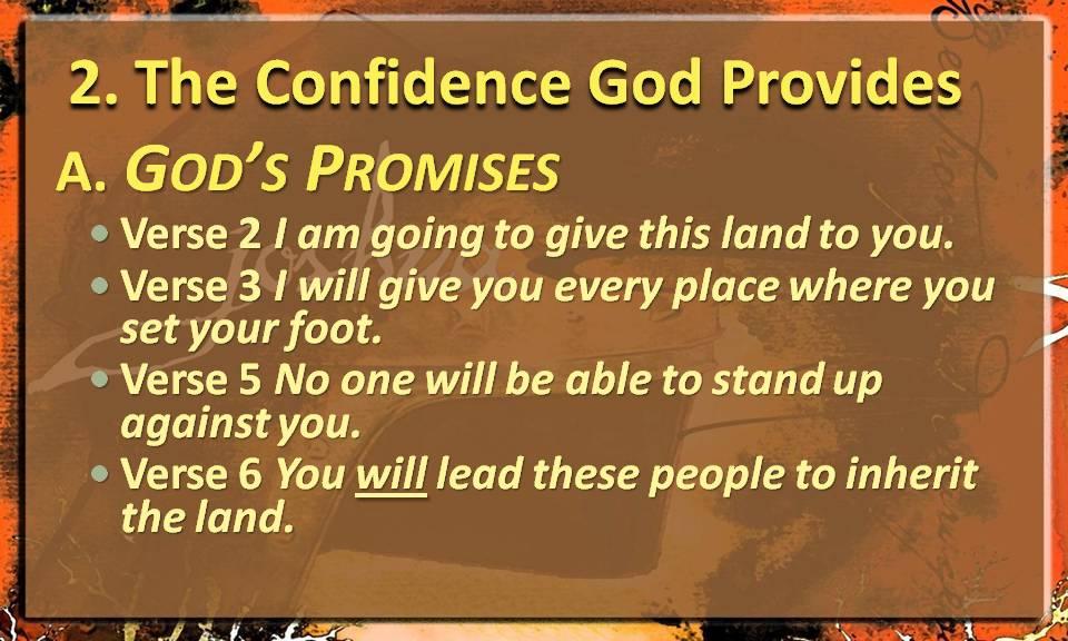 Confidence God Provides