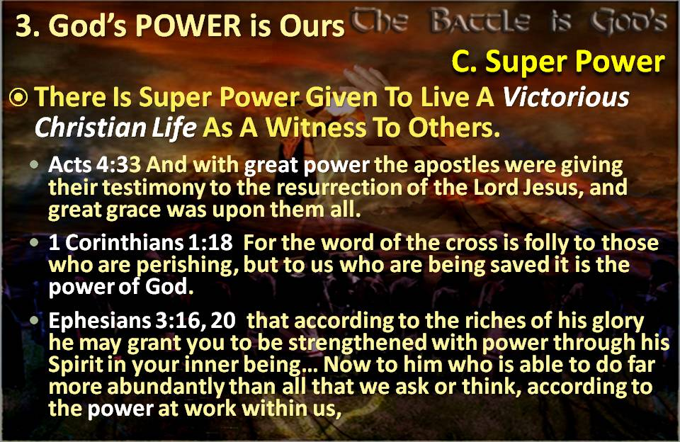 Power to Live Victorious Life