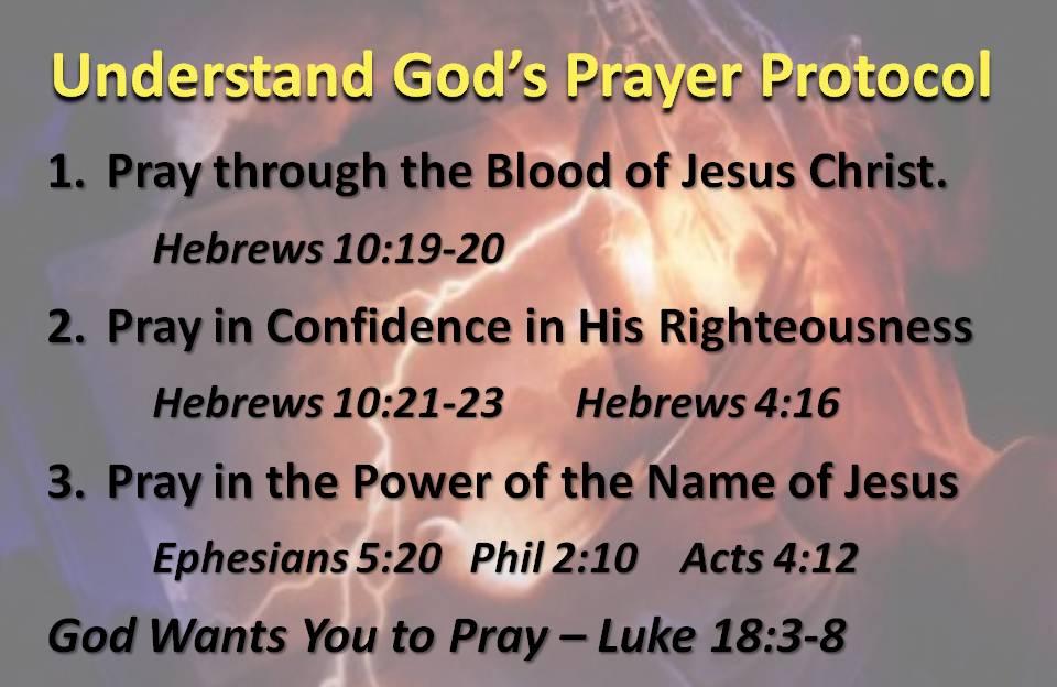 Prayer Protocol with God