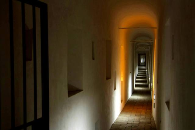 Escape passage from the Vatican to Castel Sant'Angelo. Taken by Joel Miller