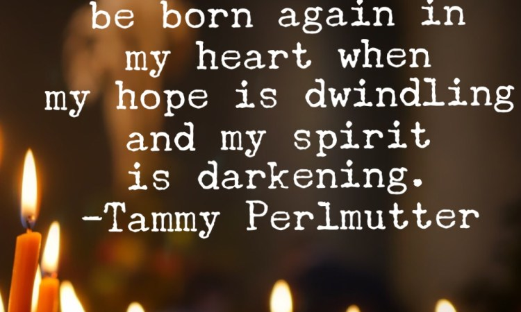 Advent candles Tammy Perlmutter