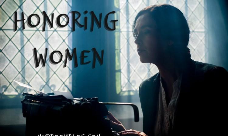 Woman at typewriter