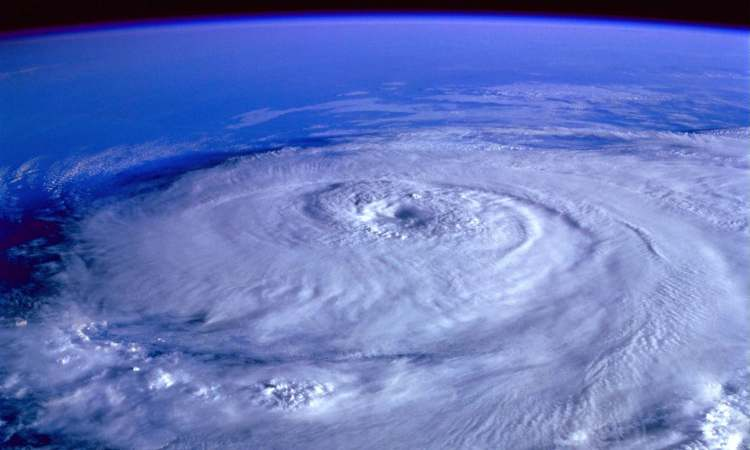 Eye of storm from outer space