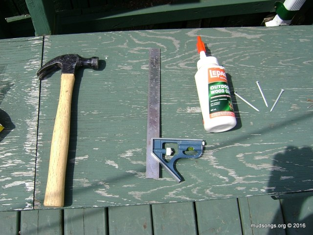 Tools I used to make my first hive.