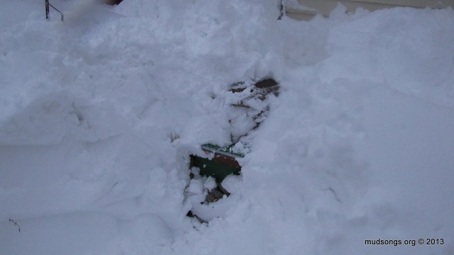 One of my bee hives after a  snow storm in 2013.
