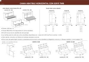TÉCNICO-CAMAS-ABATIBLES-HORIZONTALES- CON-SOFA-DORMITORIO JUVENIL TMB