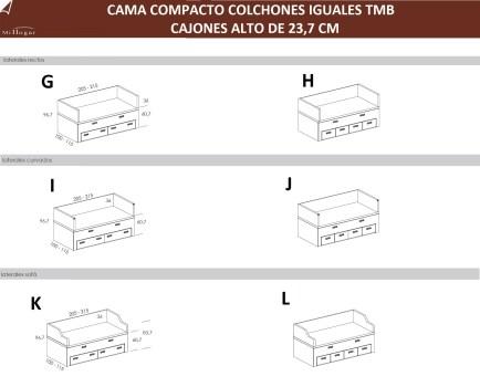 tecnico cama compacto colchones iguales cajones altos tmb