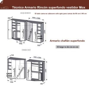 técnico armario rincón superfondo - vestidor - dormitorio juvenil mox
