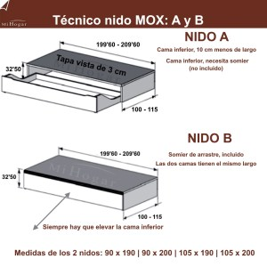 MEDIDAS-TÉCNICO CAMA NIDO MOX