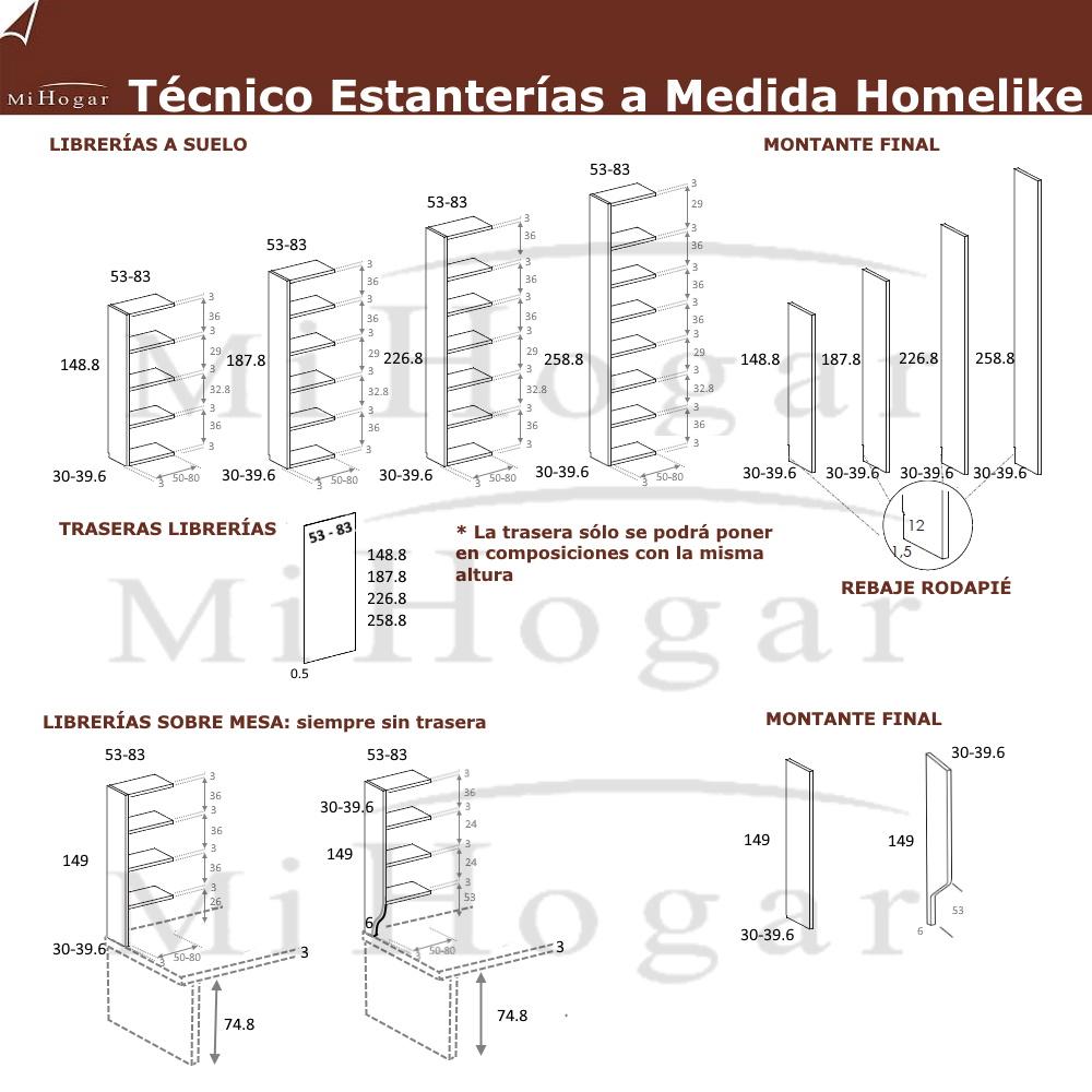 ESTANTERIAS COMPRA ONLINE HOMELIKE