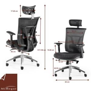 medidas silla oficina ergonomic lumbar reposacabeza