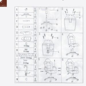instrucciones de montaje silla gaming valladolid sin-con ruedas