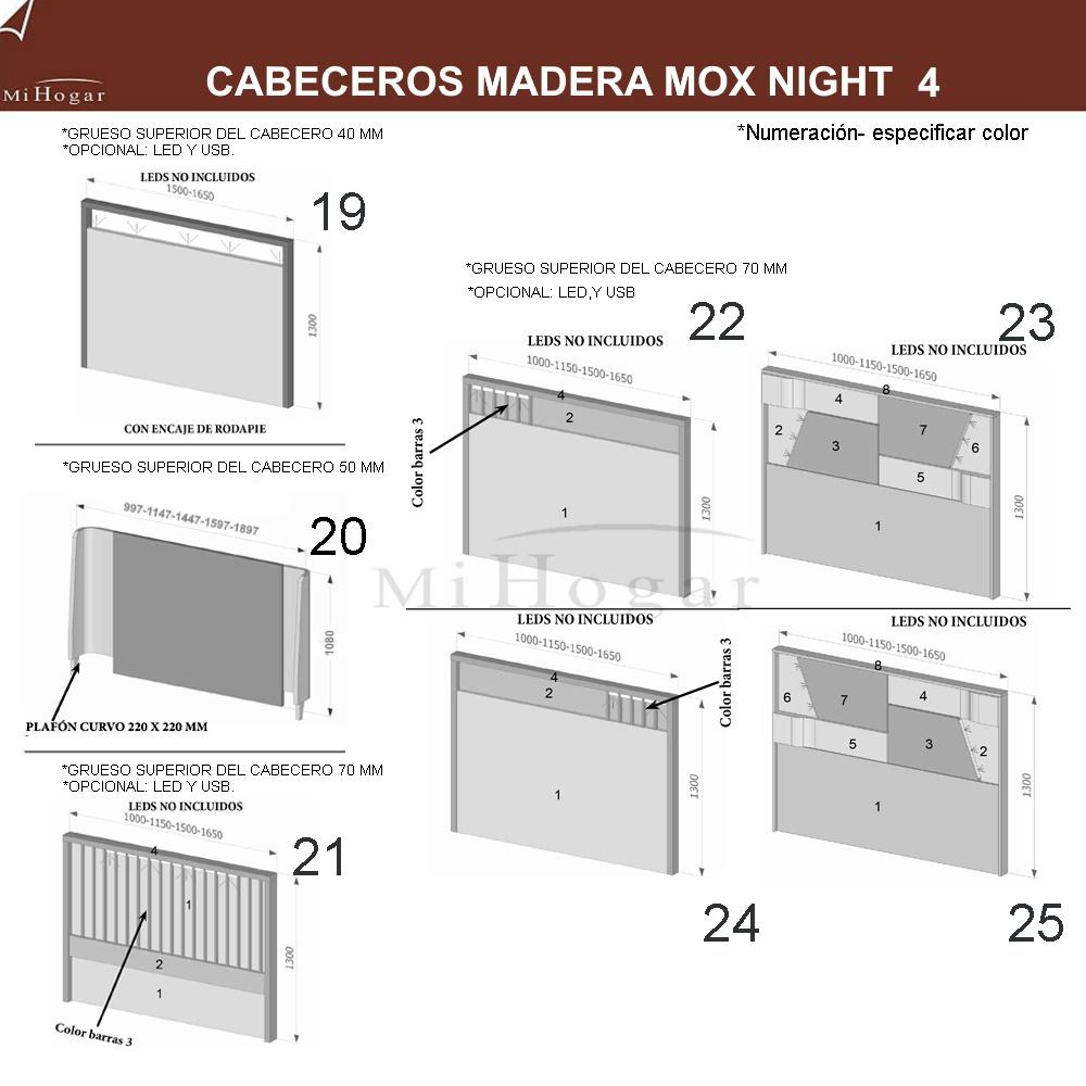 cabeceros madera mox night cuatro