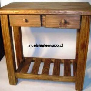 mesa de arrimo de madera