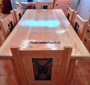 comedor de 6 sillas de madera