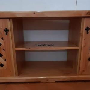 rack para tv de madera