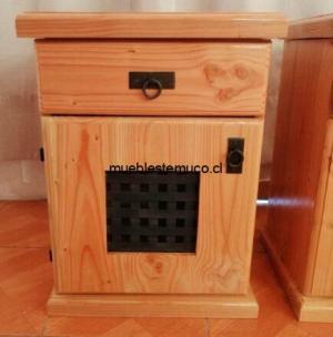 velador de madera con fierro