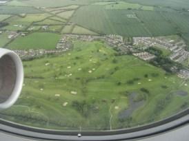 Landeanflug auf Dublin